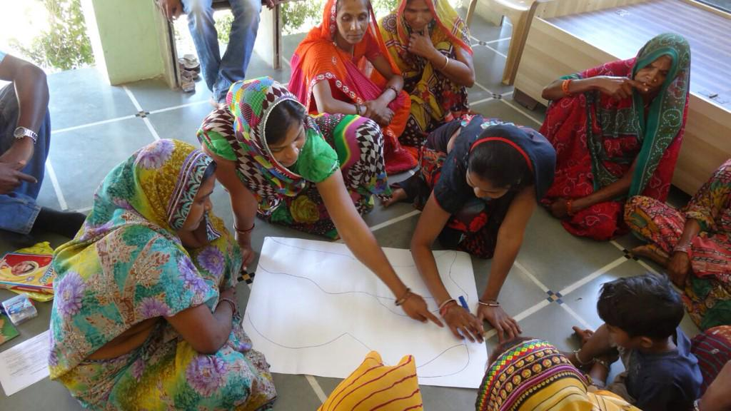 2. women in Ahmedabad participate in water mapping excercise as part of MIT water filter study.jpg_large