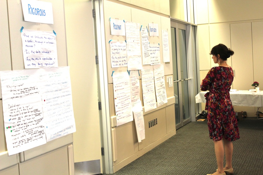 A glimpse into the first Lean Research convening in August 2014. Photo credit: Emily Kate Moon.